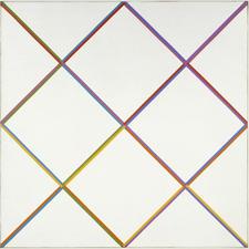 MAX BILL Huit groupes de lignes autour du blanc